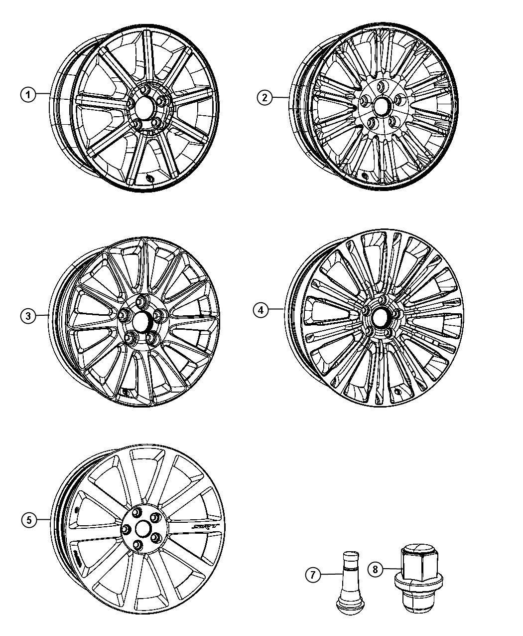 Chrysler Wheel Aluminum Front Or Rear 20x8 0