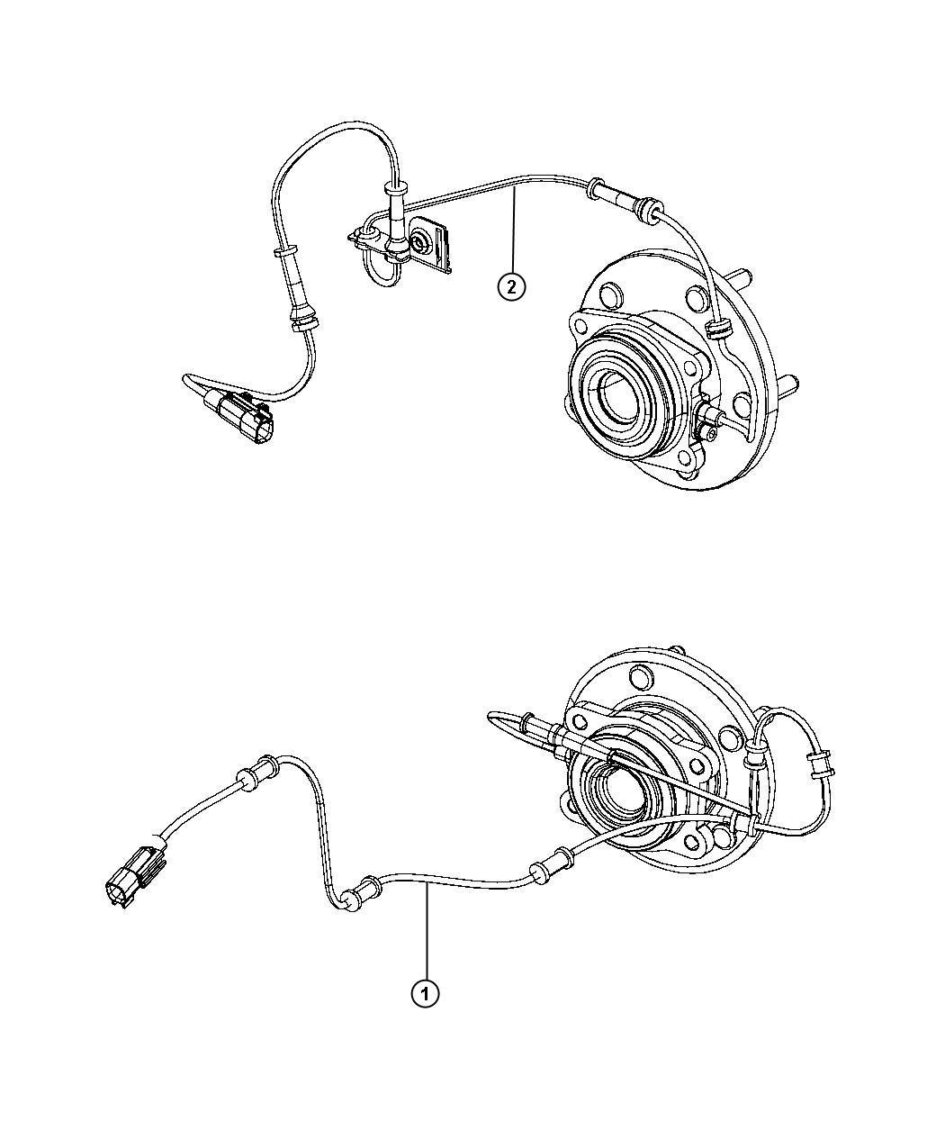 Chrysler 300 Sensor Anti Lock Brakes Left Left Rear