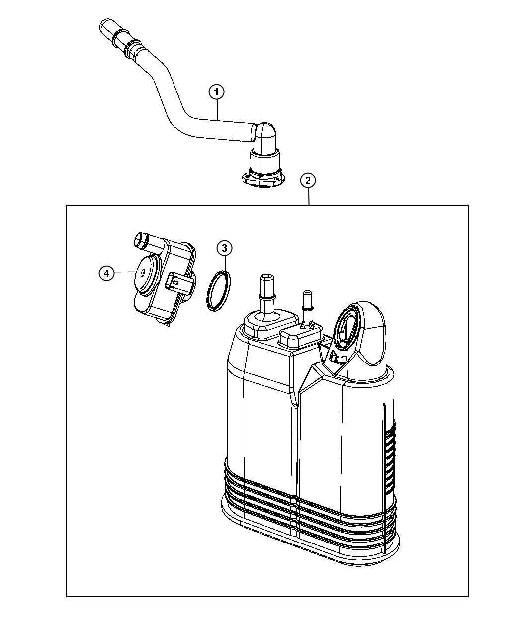 Jeep Grand Cherokee Detector Evaporative System Integrity