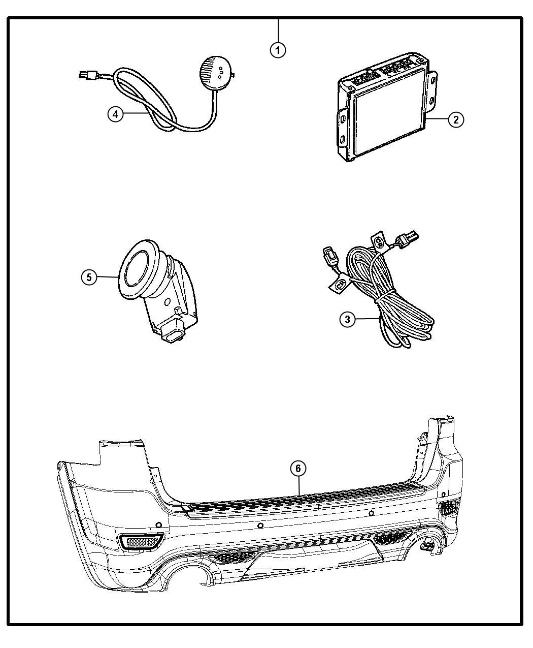 Jeep Grand Cherokee Module. Parking assist. Parkdistance