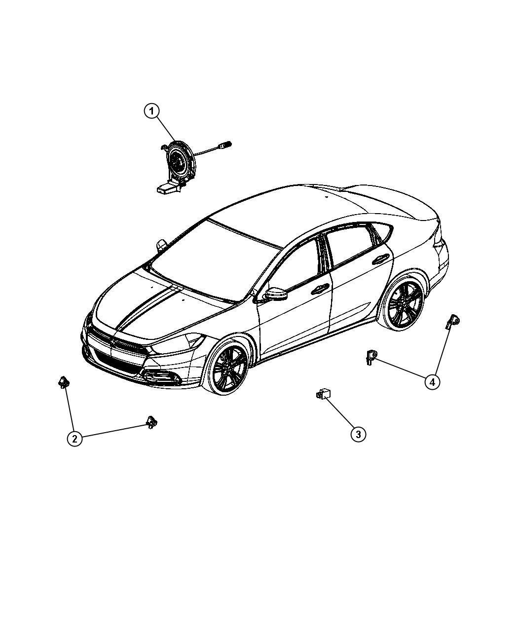 Dodge Dart Clockspring Steering Column Control Module
