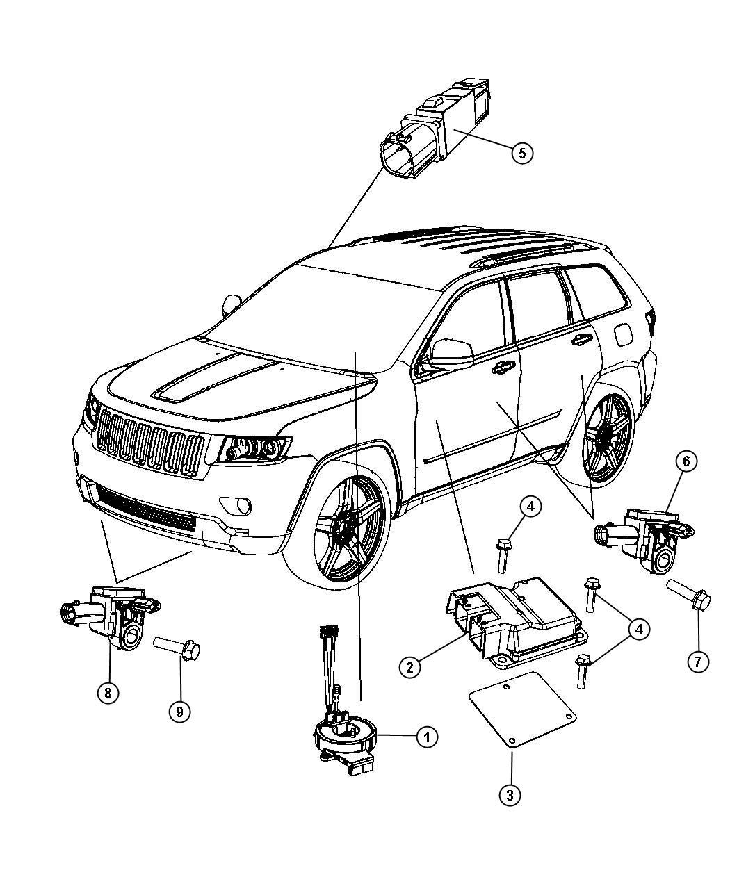Jeep Grand Cherokee Module. Steering column. Trim: [no