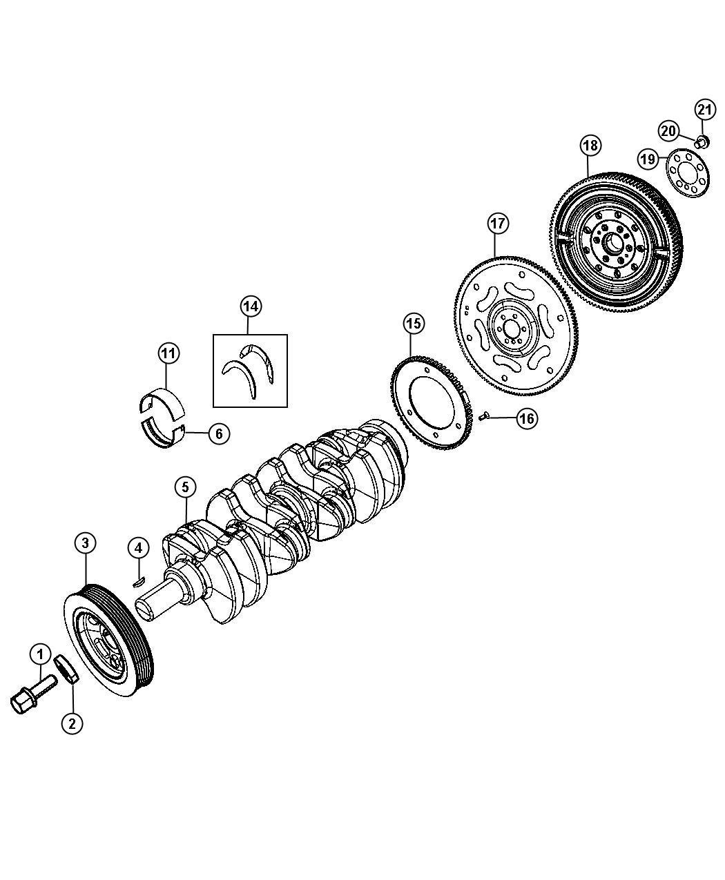 Dodge Dart Bearing Crankshaft Lower 6 Micron