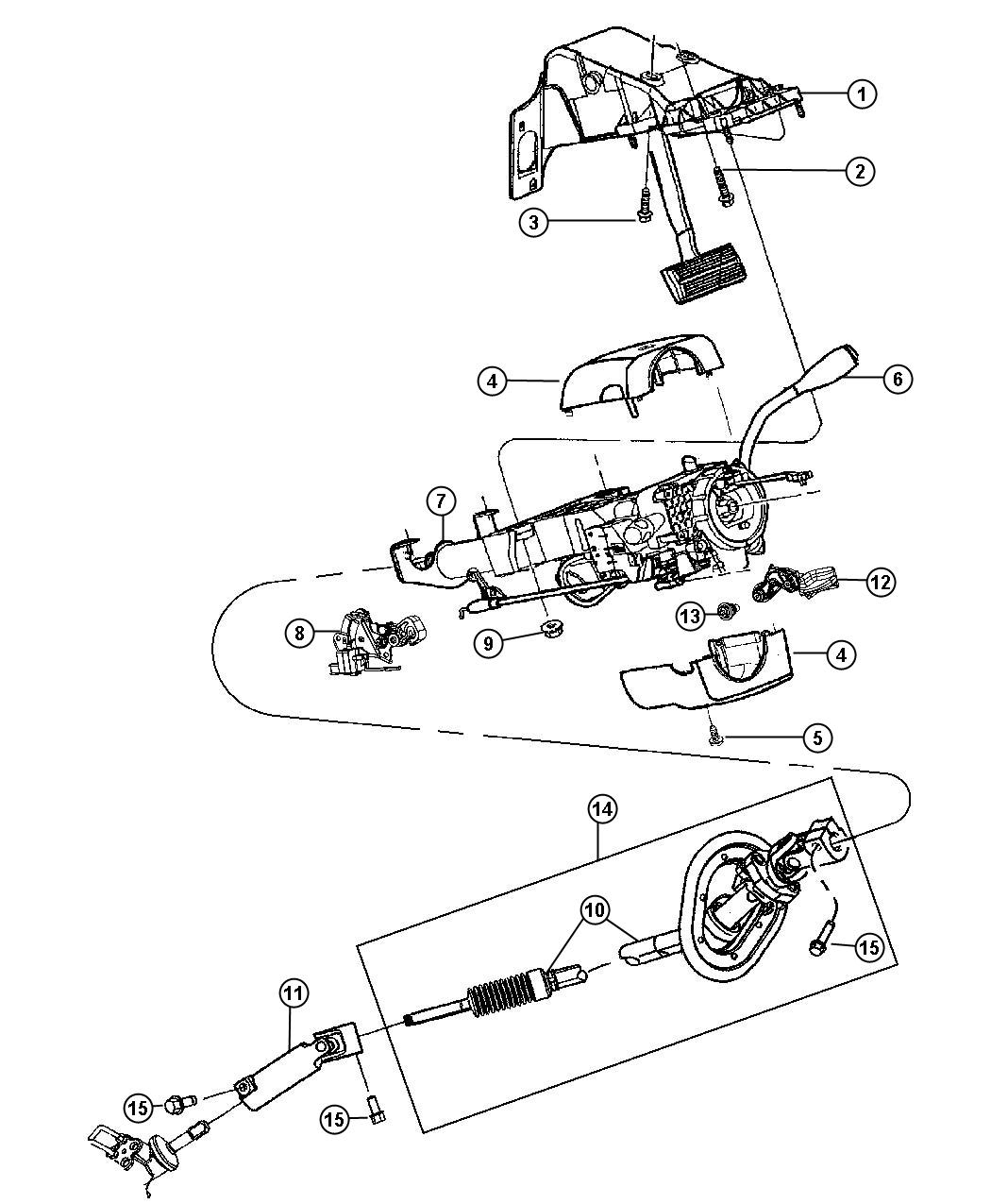 2013 Dodge Ram 2500 Shaft kit. Steering column