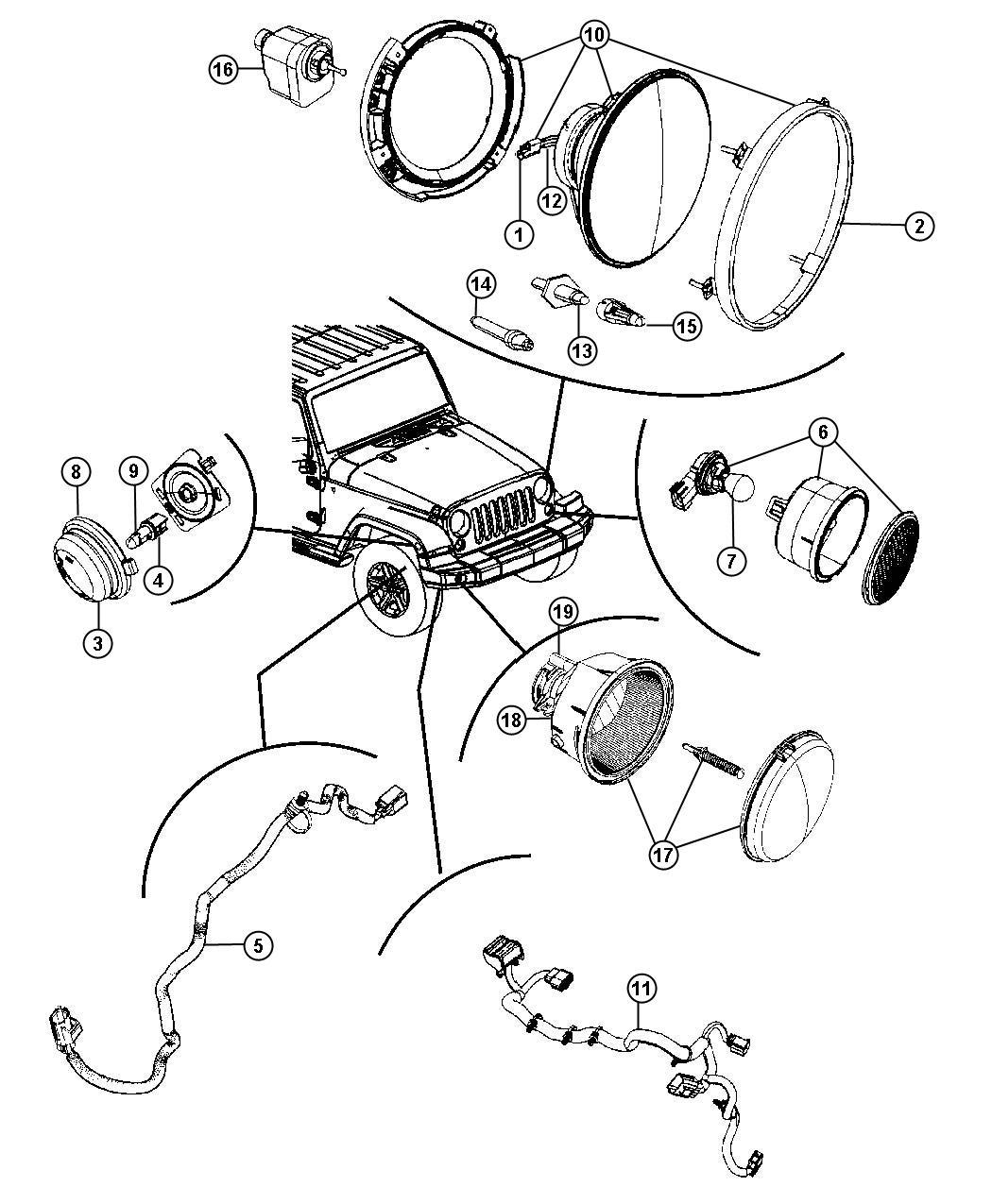Jeep Wrangler Wiring. Headlamp. [remote start system