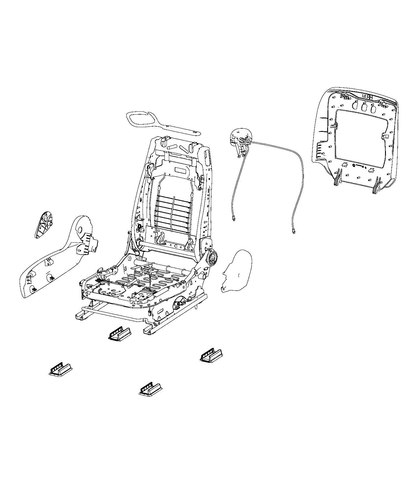 Dodge Challenger Adjuster. Manual seat. Trim: [srt logo