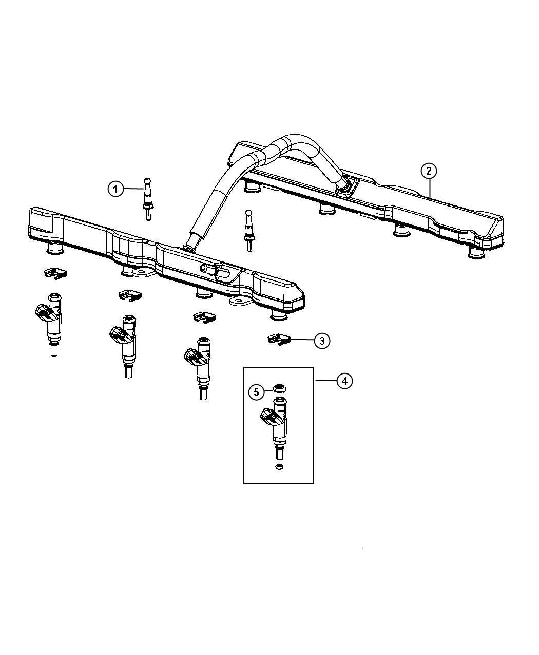 Dodge Charger Rail. Fuel. [6.4l srt hemi smpi v8 engine