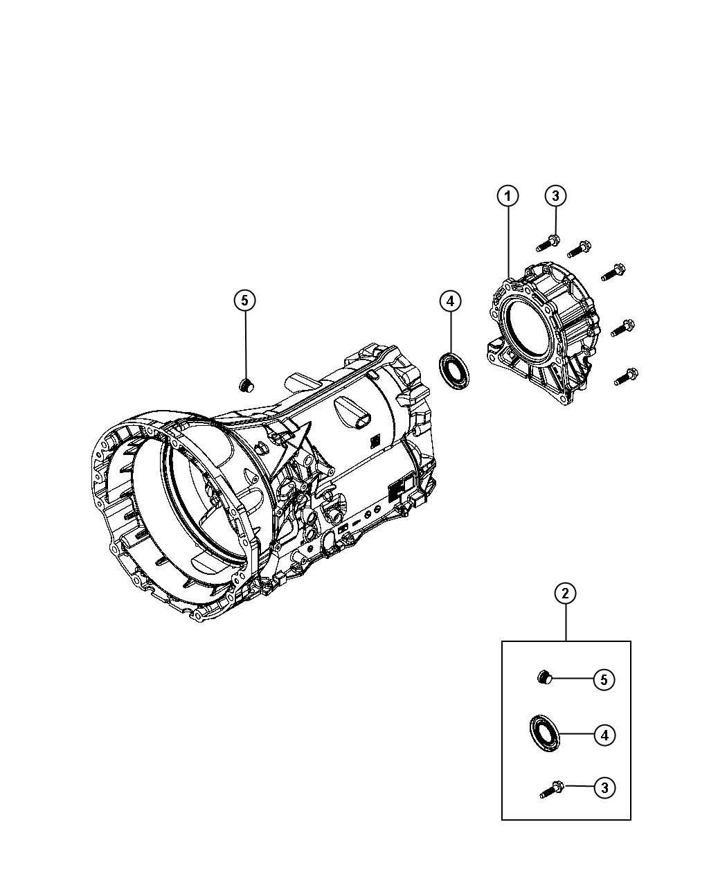 Dodge Charger Seal. Output shaft. [3.27 rear axle ratio