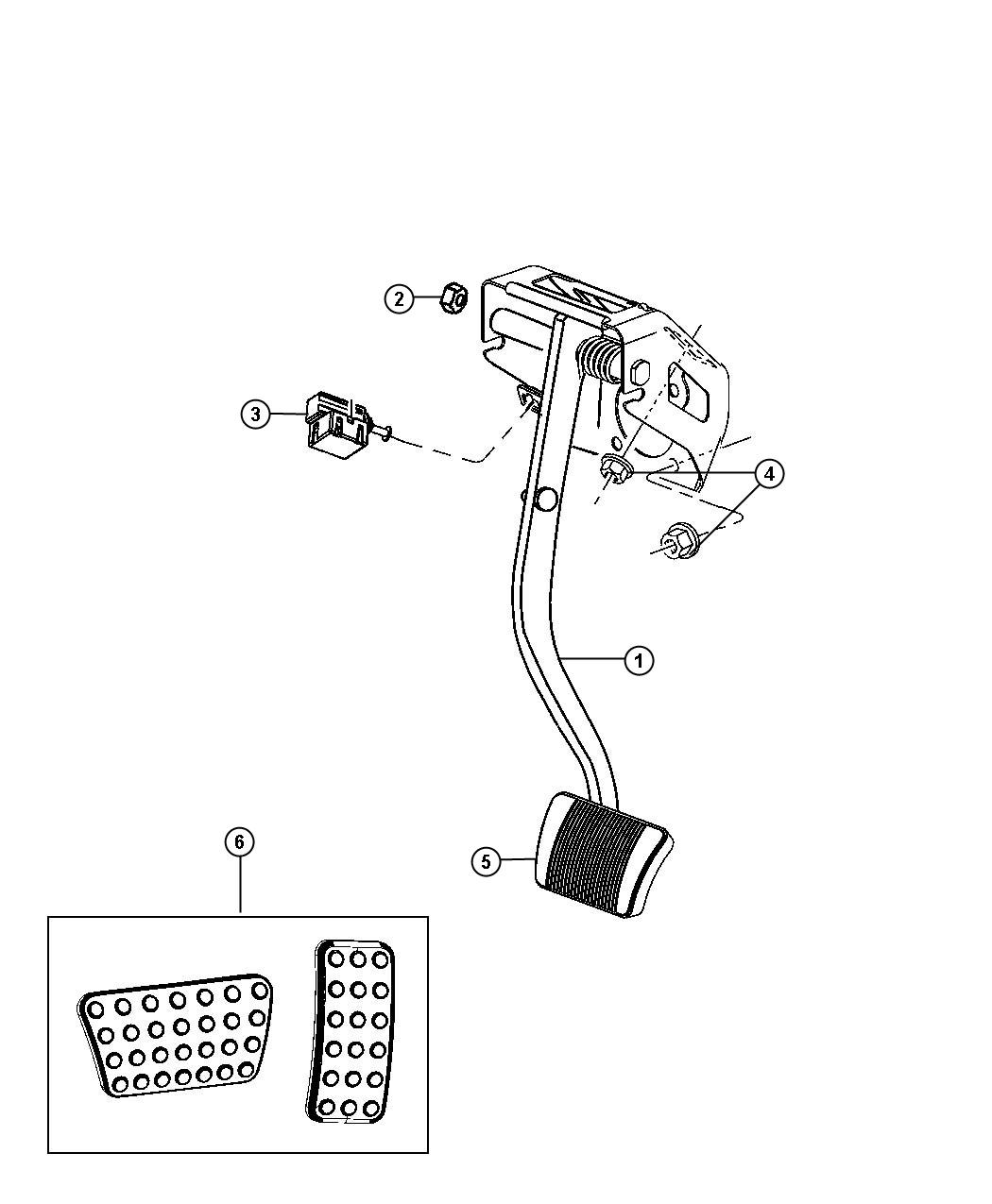Chrysler 300 Sensor Brake Pedal