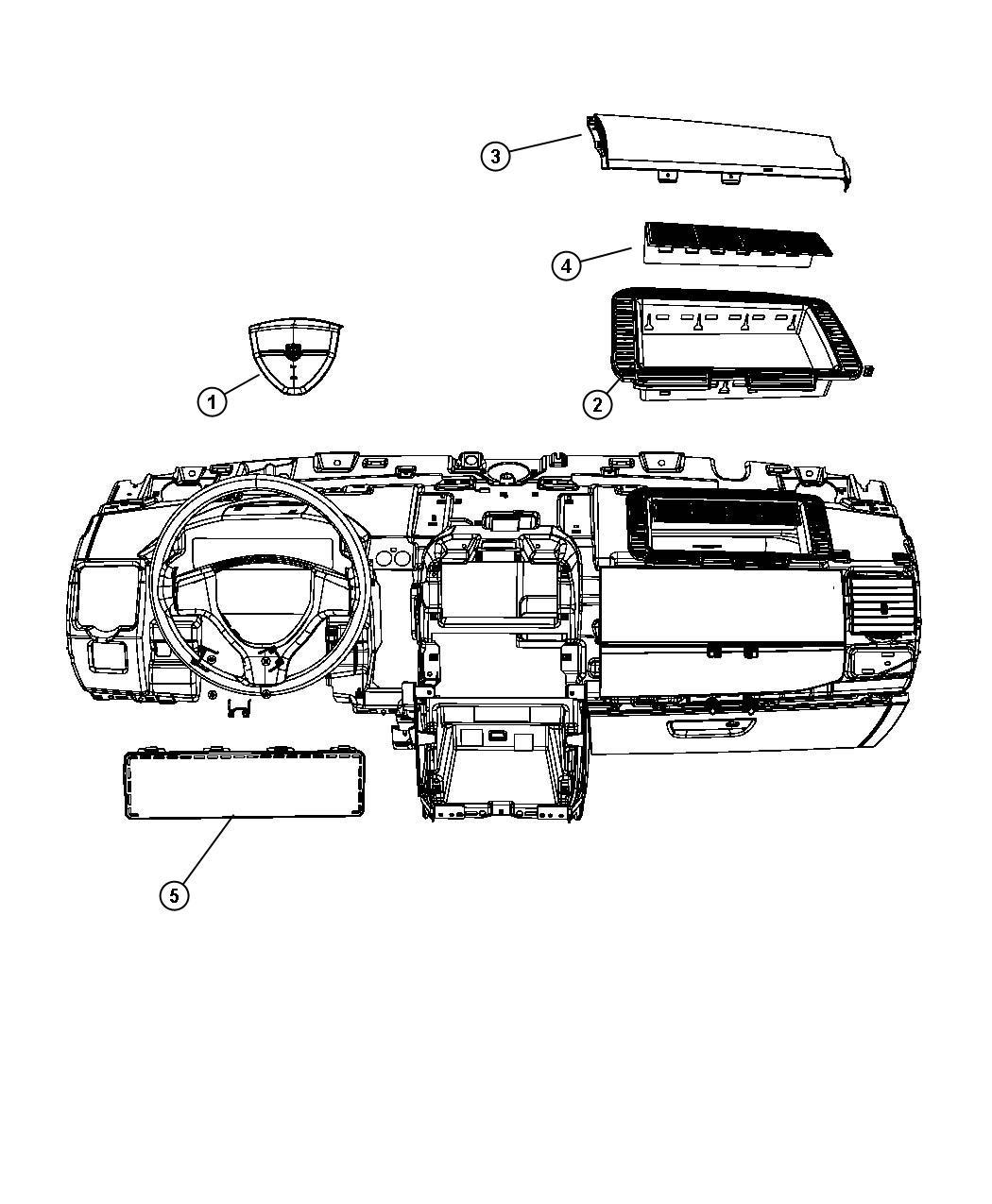 Dodge Grand Caravan Air bag. Driver. [advanced multistage