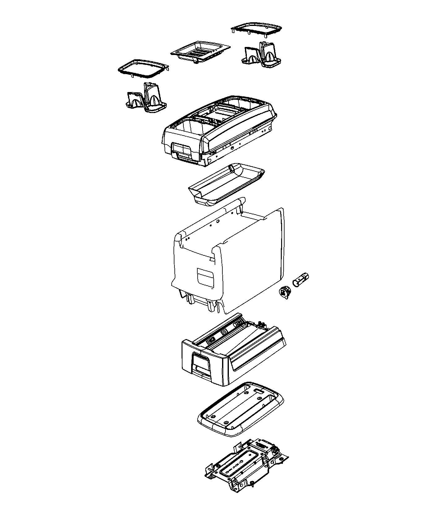 Chrysler Town Amp Country Mat Storage Tray Trim No