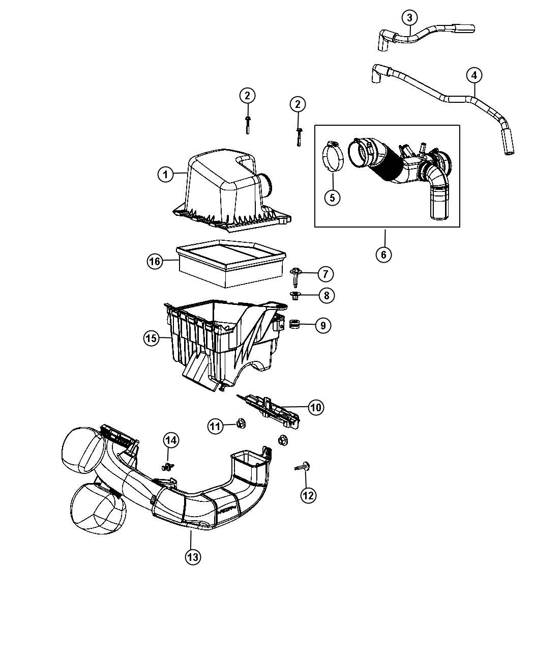 Dodge Dart Screw Hex Flange Head M5x2 24x30 00 Air
