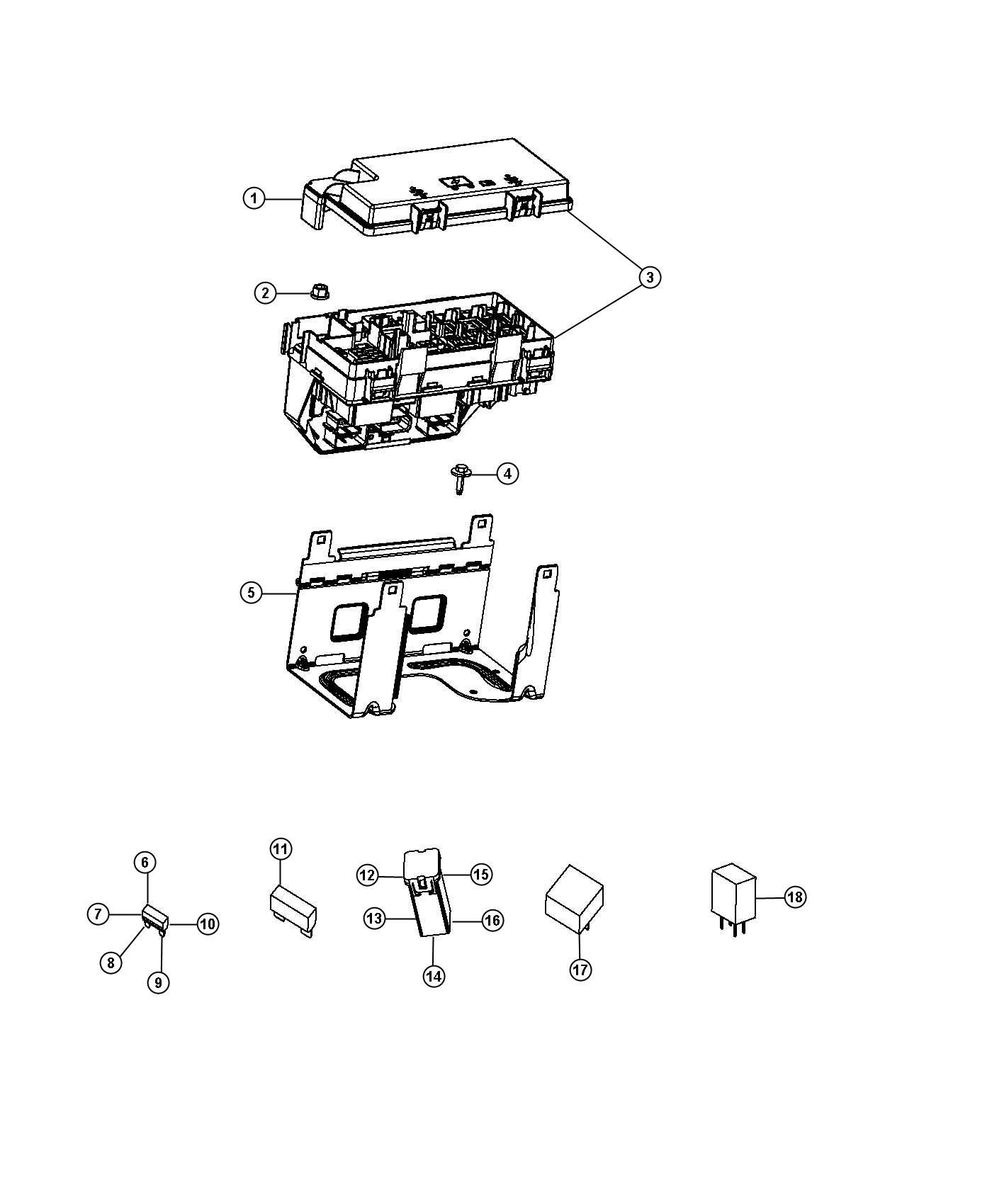 Jeep Wrangler Module. Totally integrated power. Tipm