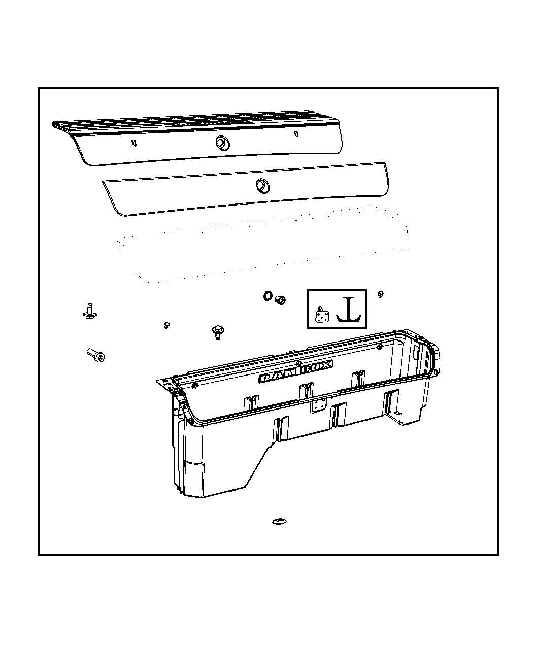 2015 RAM 2500 Door. Storage bin. Left. [rambox cargo