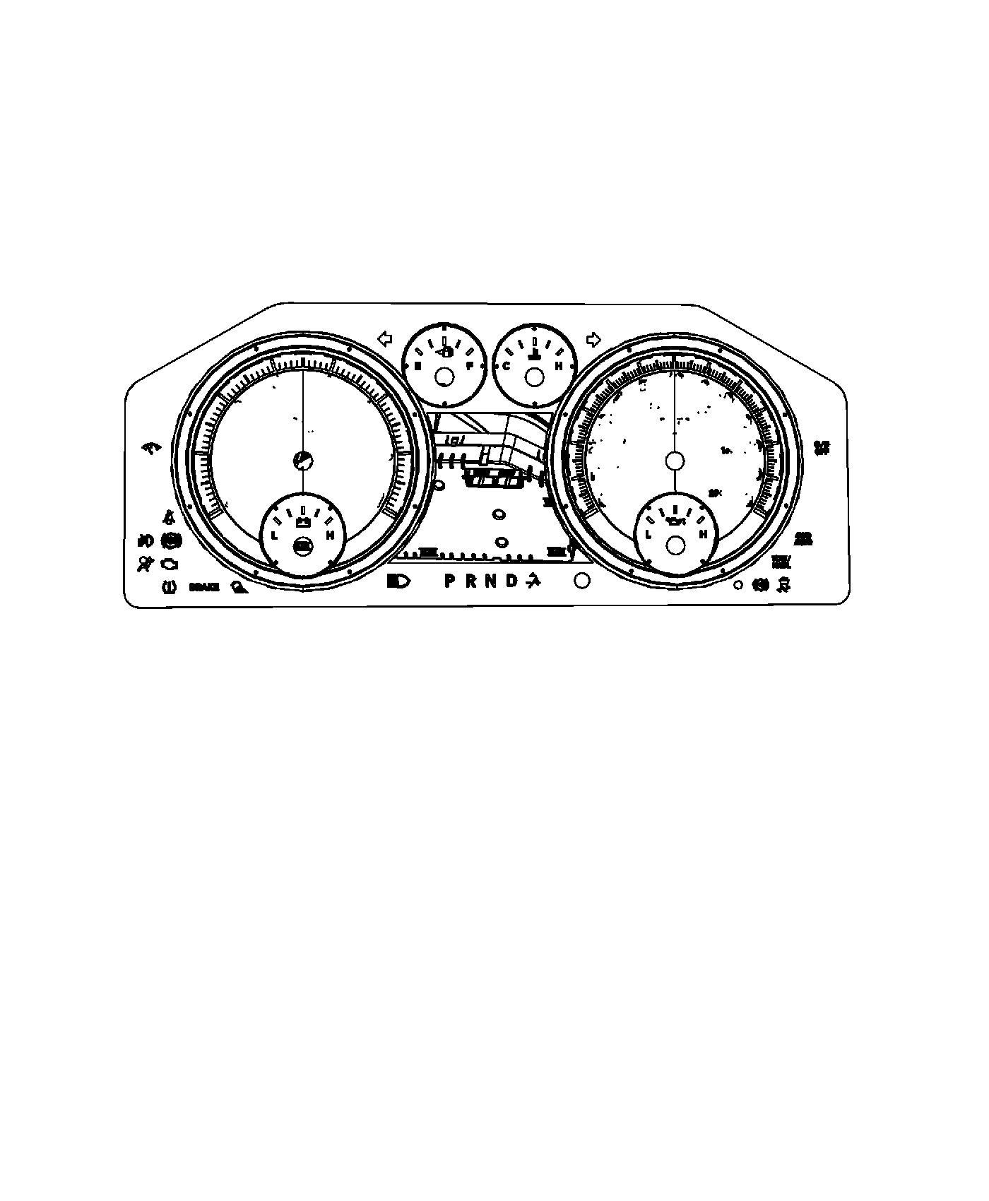 Ram Cluster Instrument Panel Instrument Cluster W