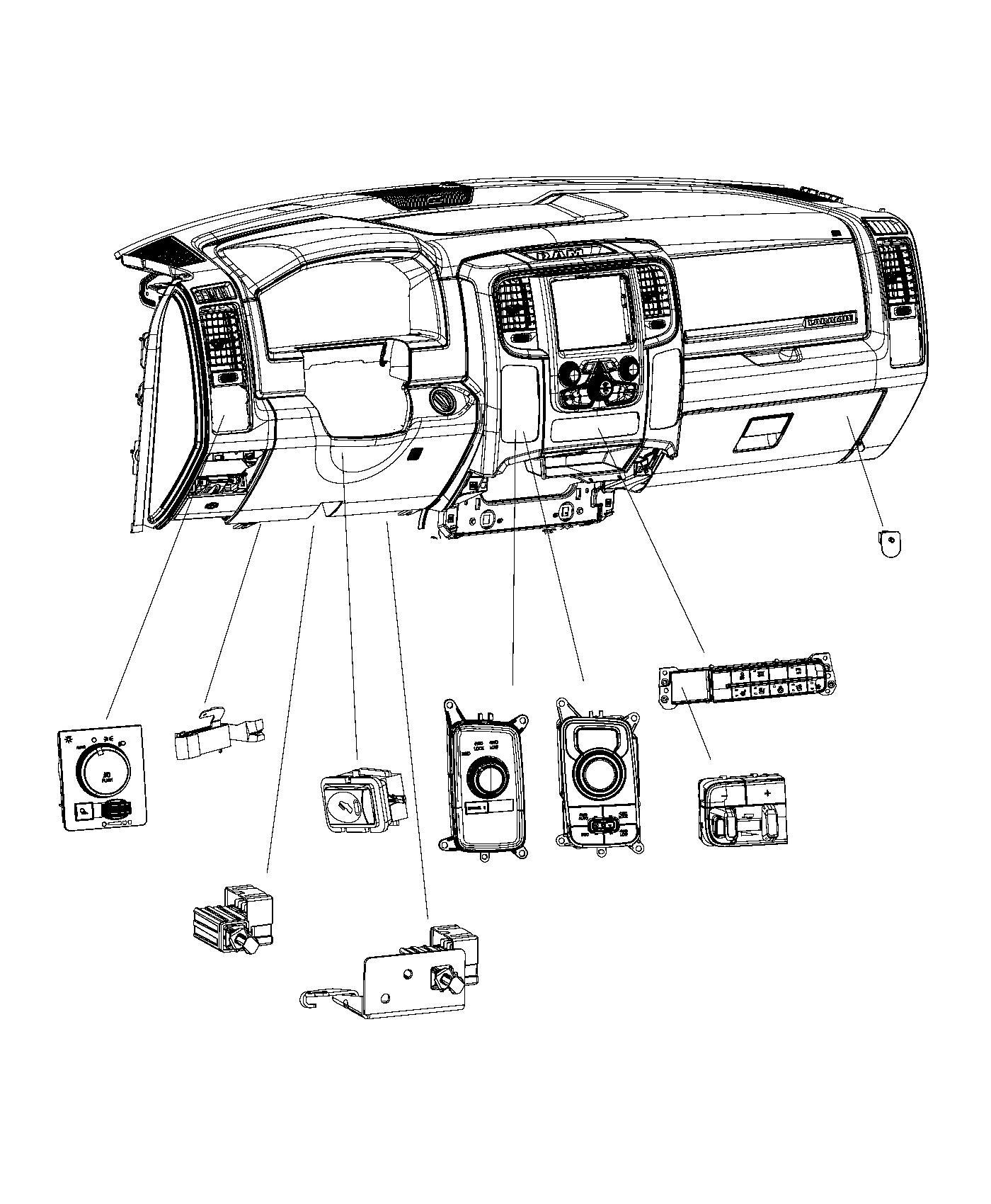 Ram Switch Instrument Panel Trailer Brake
