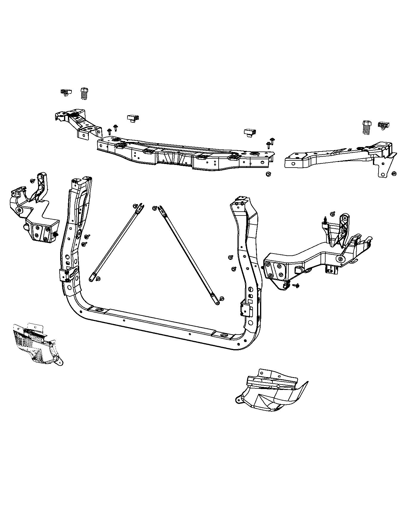 Jeep Grand Cherokee Radiator Support