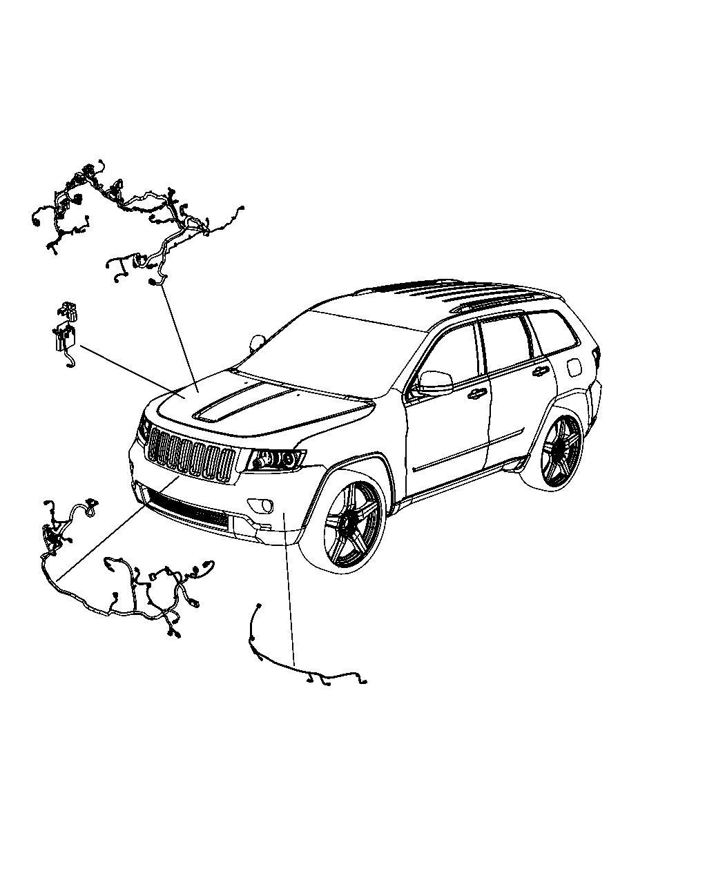 Jeep Grand Cherokee Wiring. Headlamp to dash. Us, canada