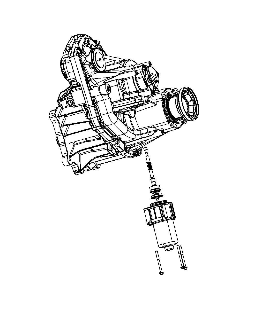 Jeep Grand Cherokee Gear Motor Transfer Case