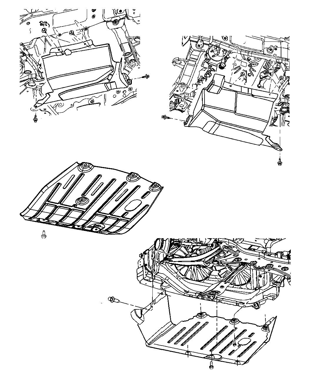Jeep Patriot Belly pan. Front. Transengine, accesory