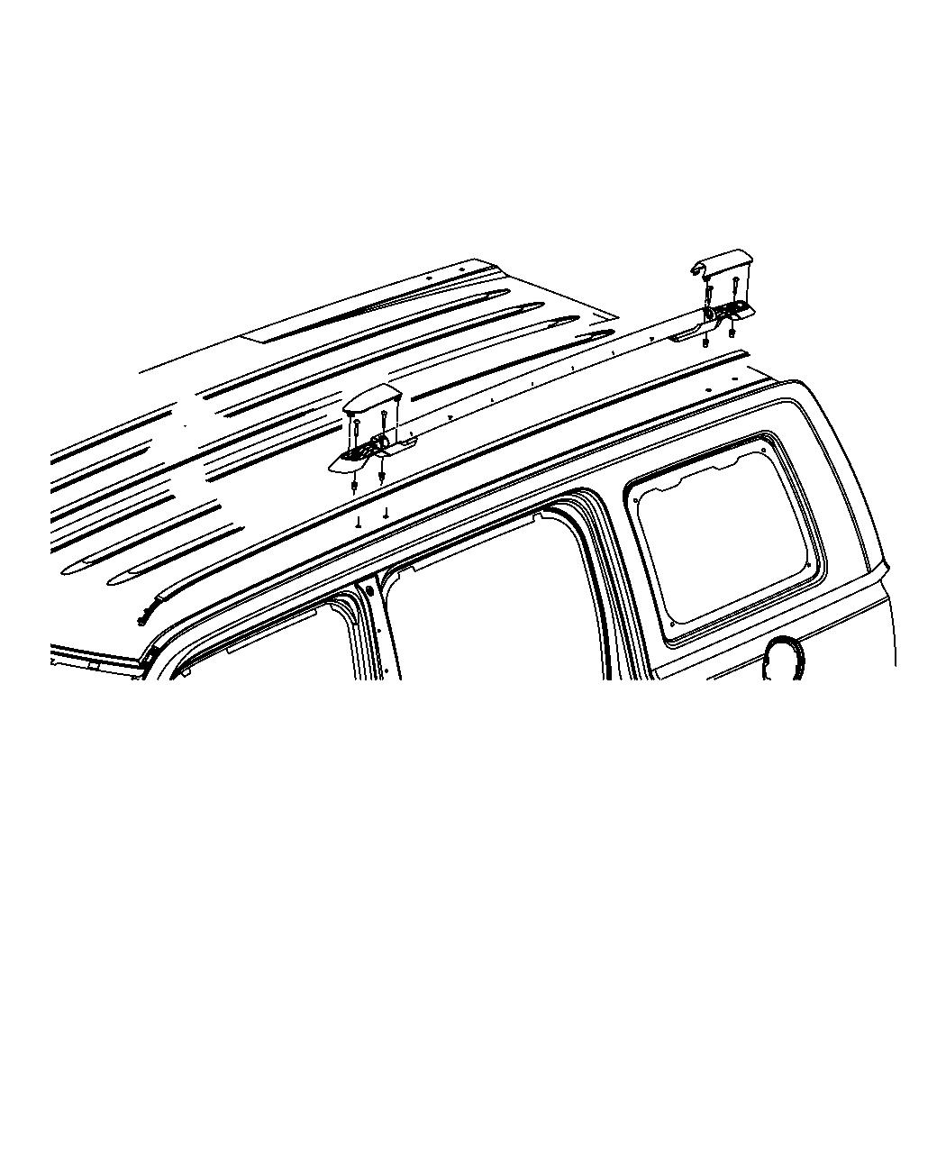 Jeep Patriot Side rail. Roof rack. Right. [roof rack