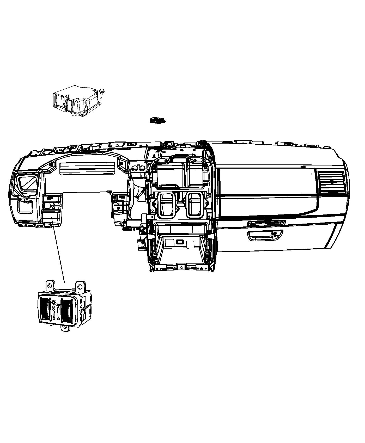 Dodge Grand Caravan Module. Electronic pedestrian