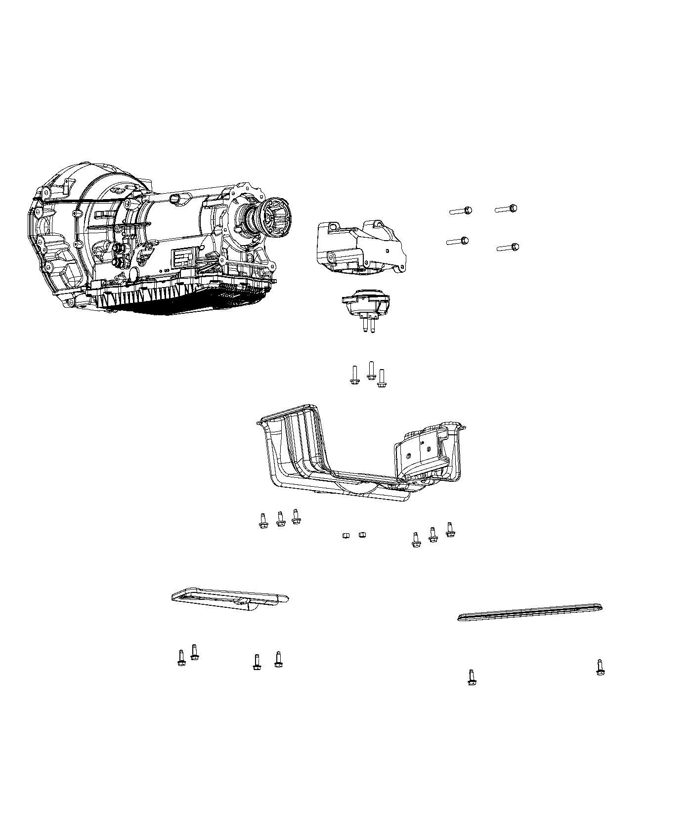 Jeep Grand Cherokee Isolator. Transmission mount