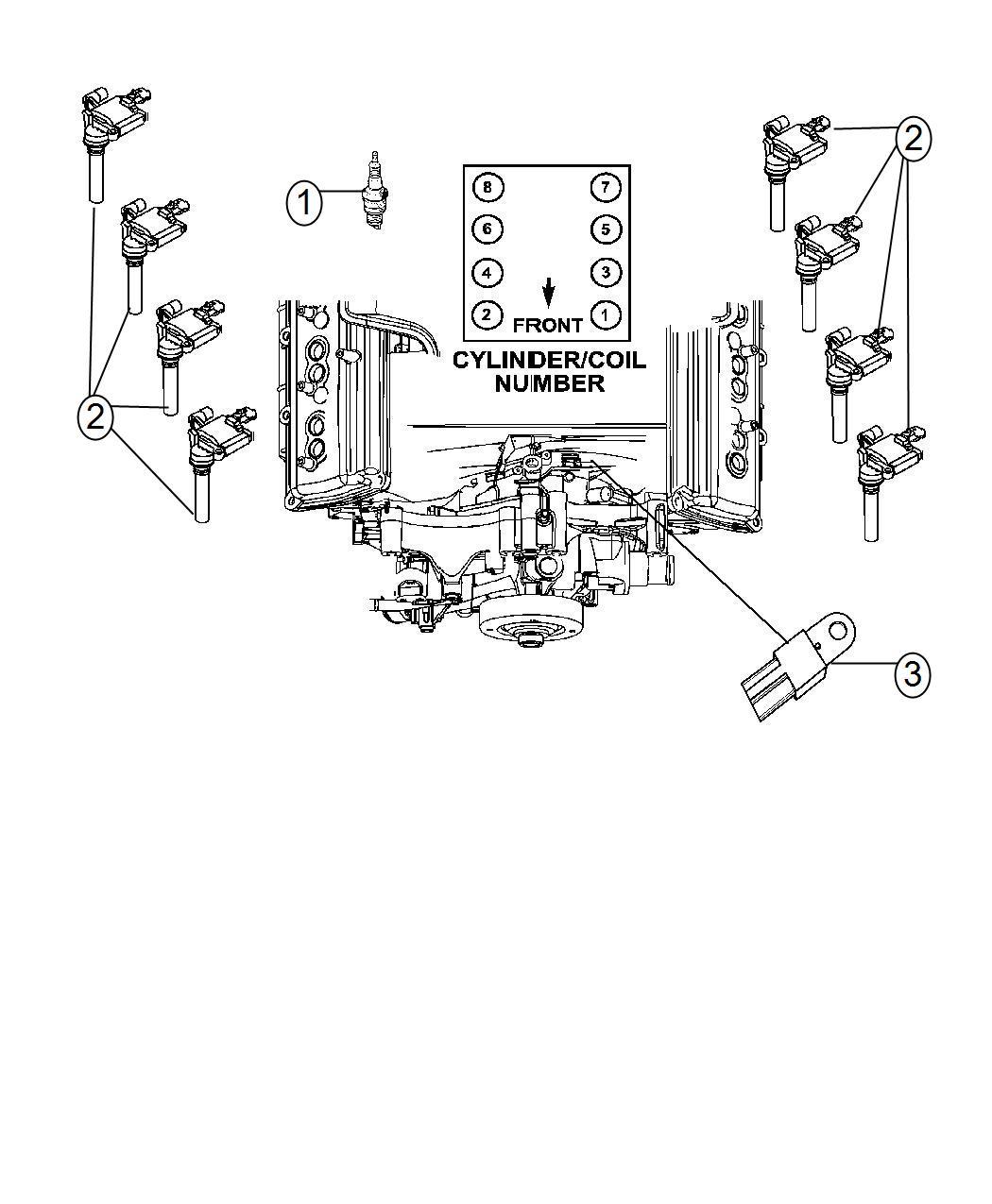 Dodge Charger Spark Plug Left Left Cylinder Head