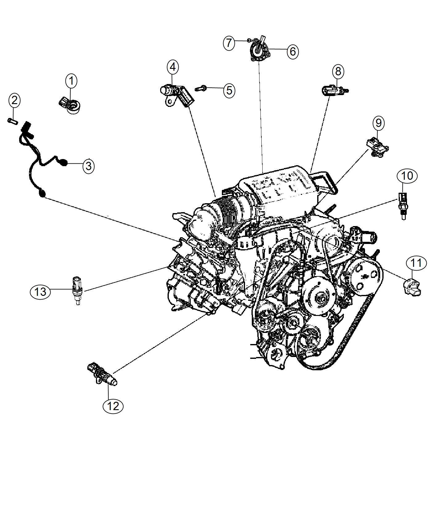 Chrysler 300 Sensor Crankshaft Position
