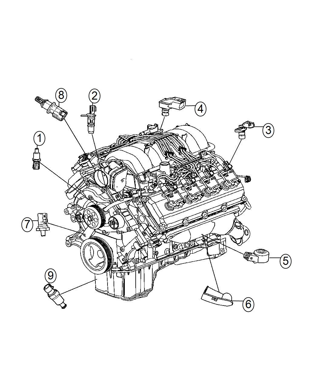 Chrysler 300 Srt8 Srt8 6 4l Hemi Srt V8 Sensor