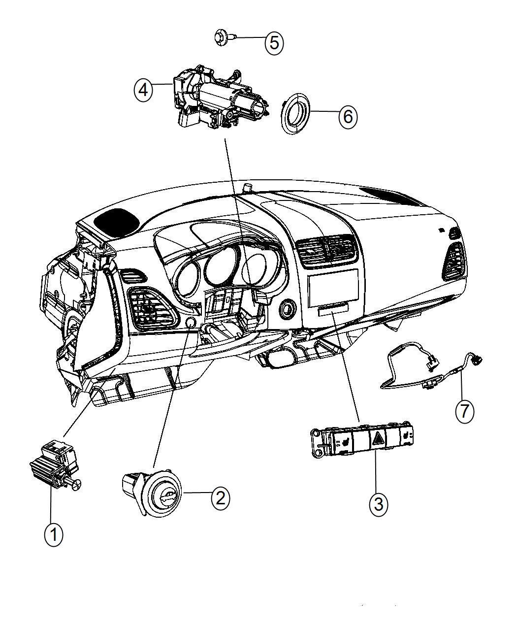 Chrysler 200 Switch. Pod. Seatselectronic, seatsheadlamp