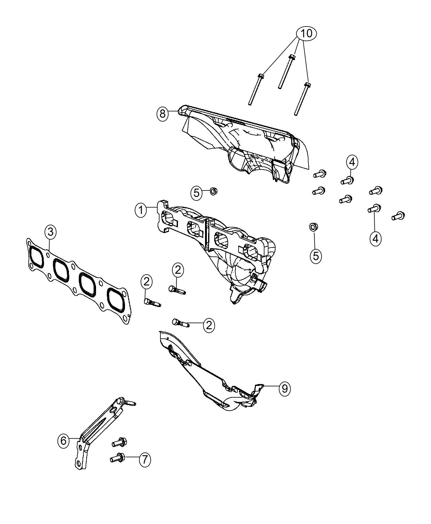 Chrysler 200 Manifold Exhaust 4 Speed Automatic Vlp
