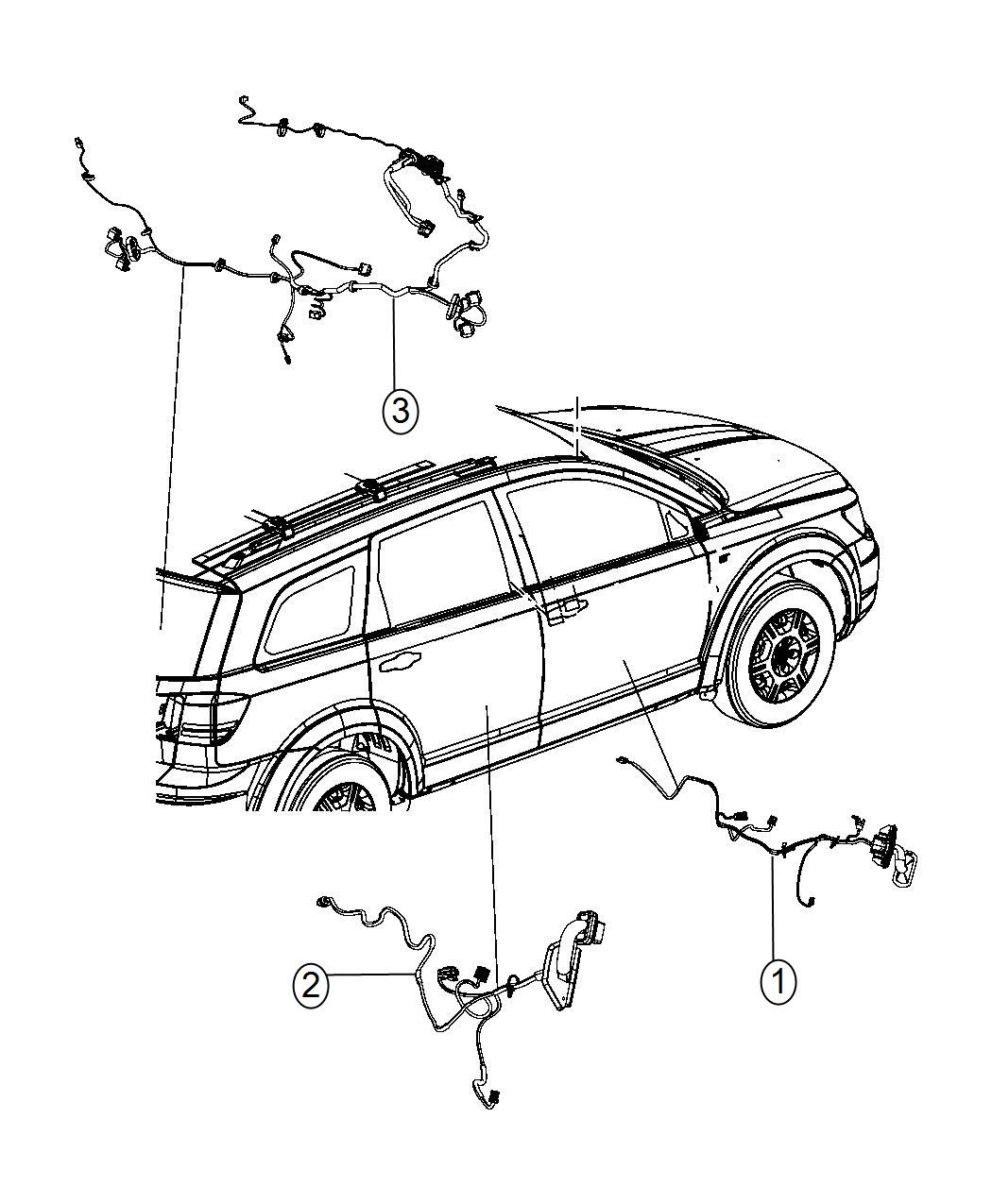 2014 Dodge Journey Wiring. Liftgate. [parkview(tm) rear