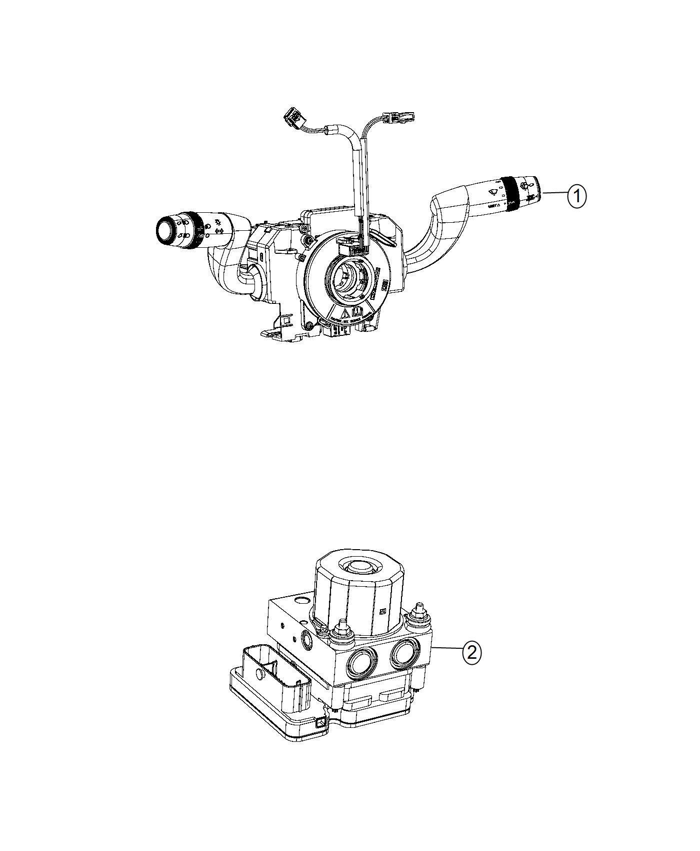 2014 RAM PROMASTER Hydraulic control unit. Anti-lock brake