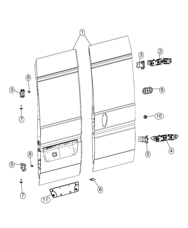 RAM PROMASTER Pin. Door panel attaching. Trim: [no