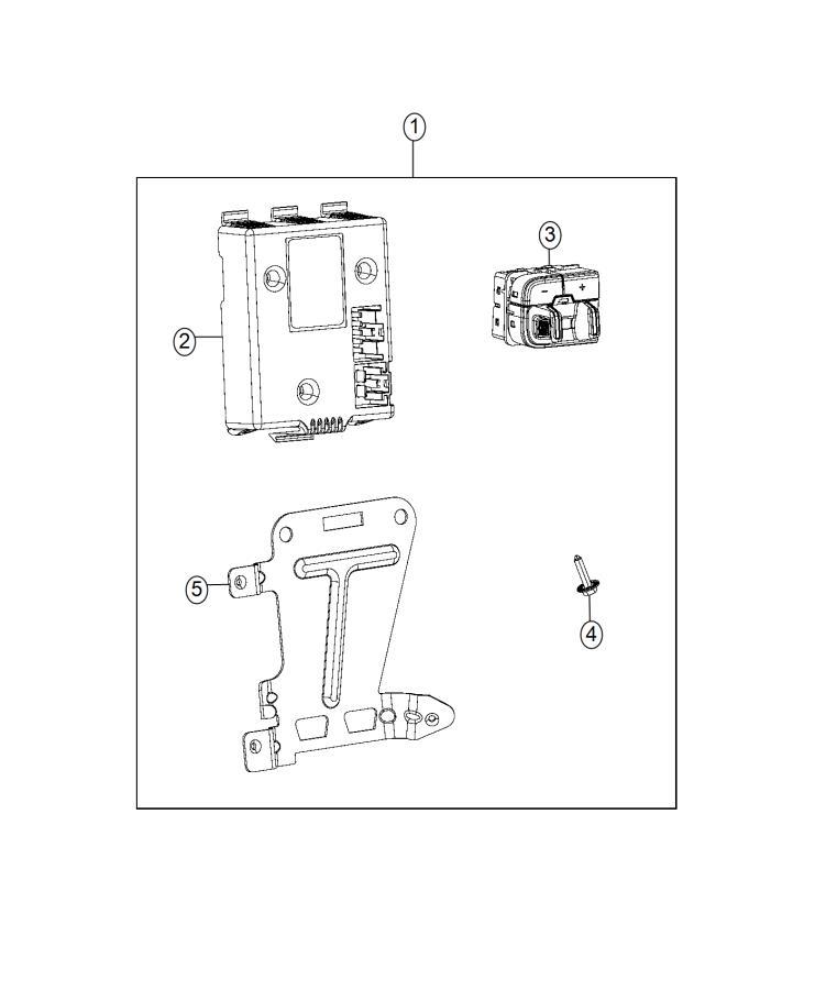 RAM 1500 Control module, module. Receiver, trailer brakes