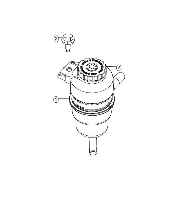 Dodge Journey Cap. Power steering reservoir. [6.2l