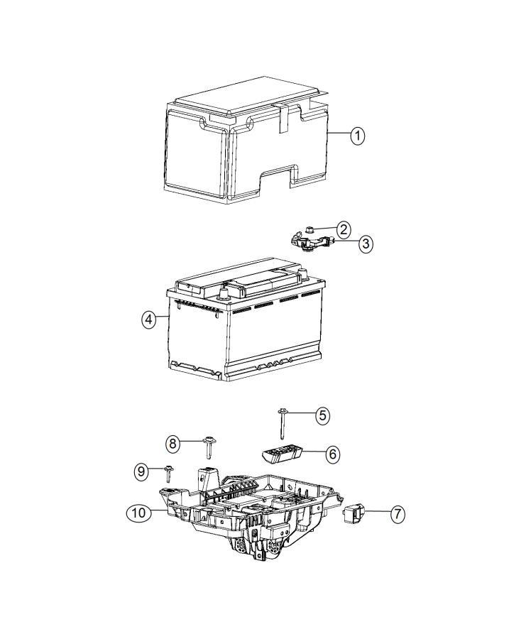 2015 Jeep Cherokee Sensor. Battery. Ibs, negative