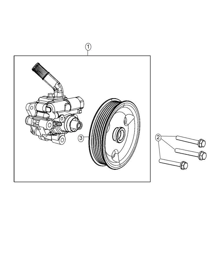Jeep Grand Cherokee Pump. Power steering. Sreering
