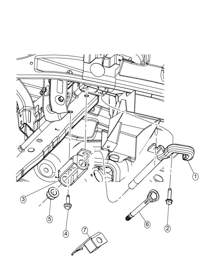 Jeep Grand Cherokee Bracket. Tow hook. [tow eye brackets