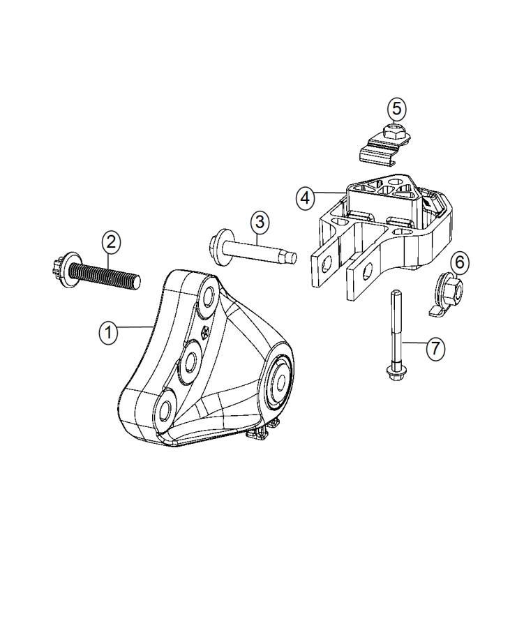 2015 Dodge Dart Bracket. Engine mount. [6-speed c635
