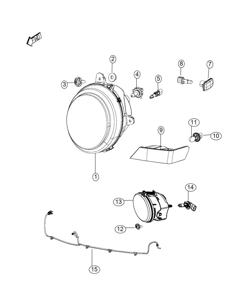 Jeep Patriot Wiring. Fog lamp jumper, front fascia