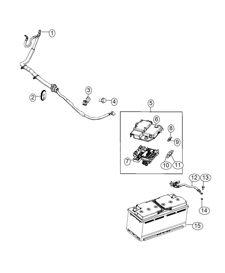 RAM PROMASTER Block, fuse box. Battery place holder. [12