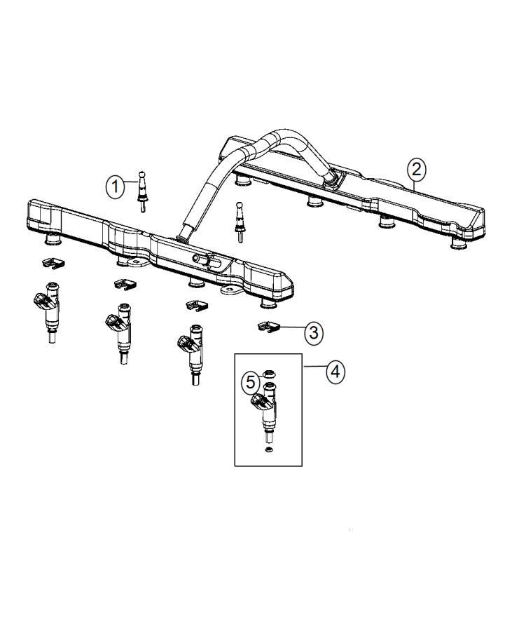 Dodge Charger Injector. Fuel. Remanufactured. [5.7l v8 mds