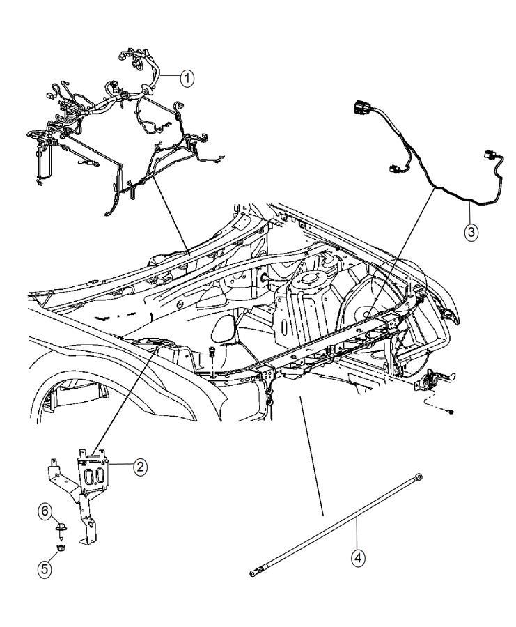 Chrysler 300 Wiring. Headlamp to dash. [parksense ft/rr