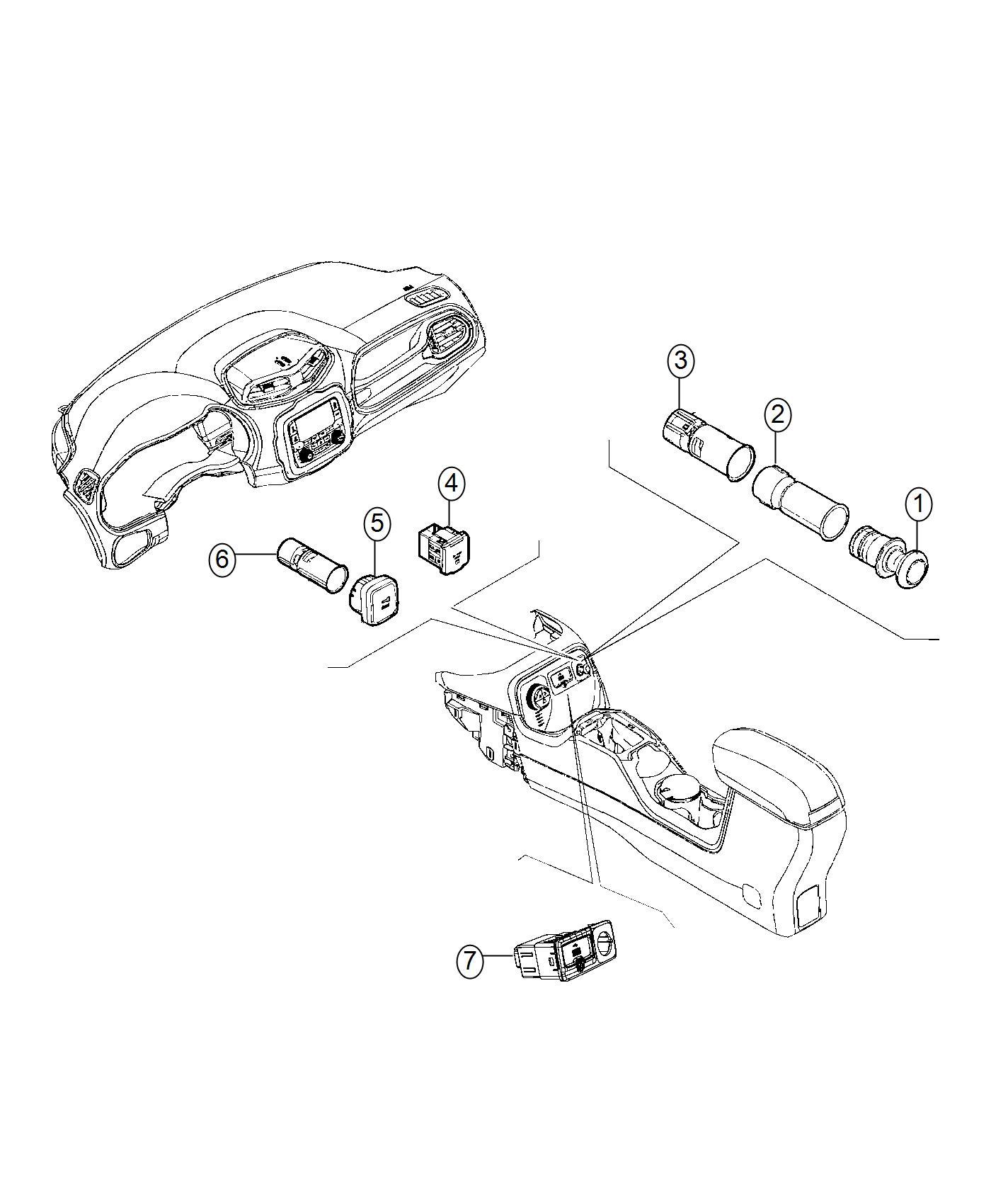 Jeep RENEGADE Power outlet. Inverter. Trim: [no