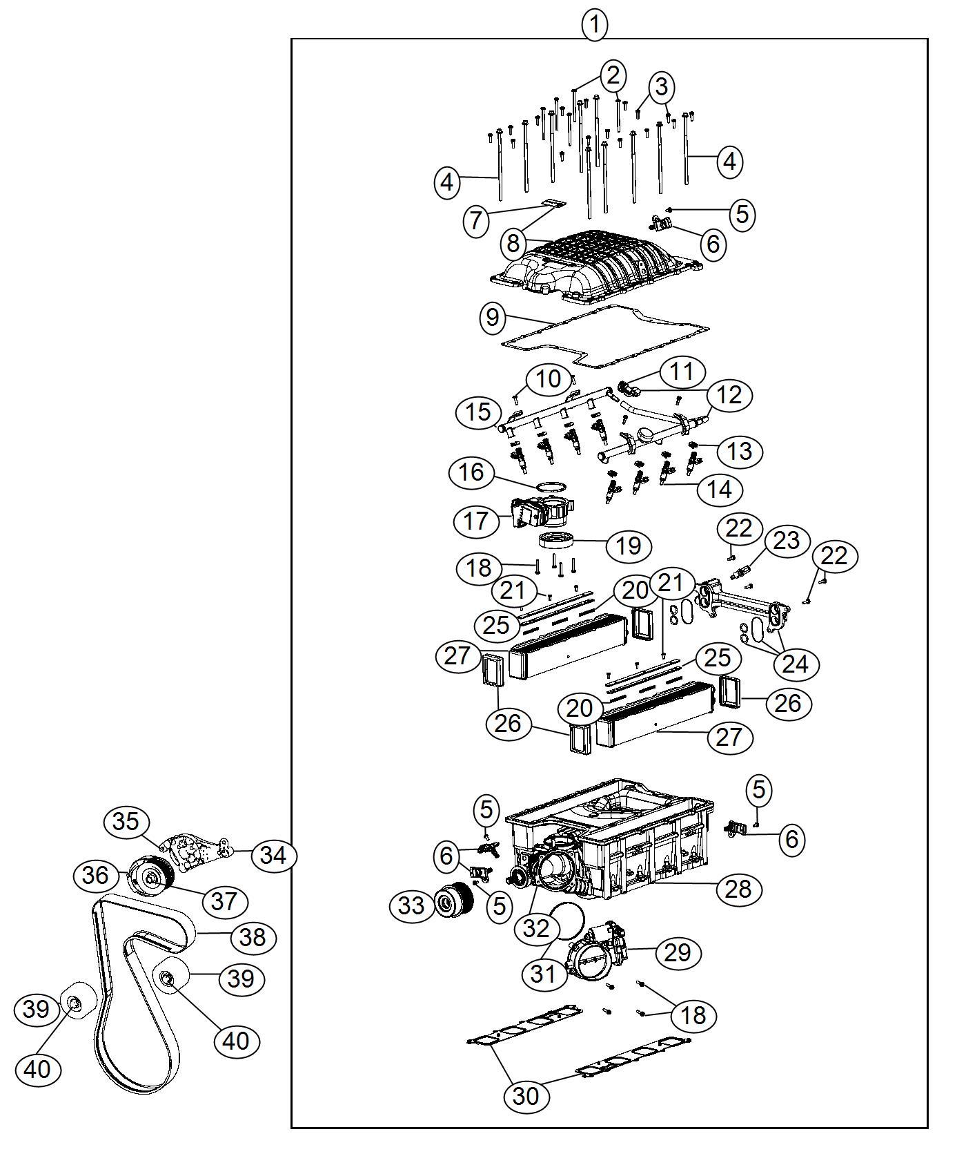 Dodge Charger Sensor. T/map. Supercharger, tmap