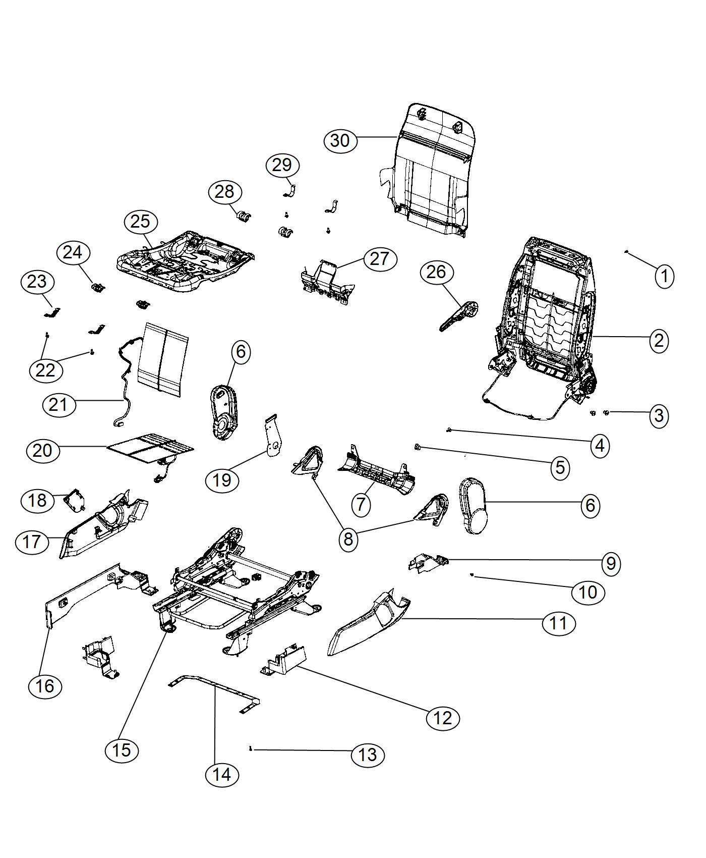 Jeep Compass Handle Recliner