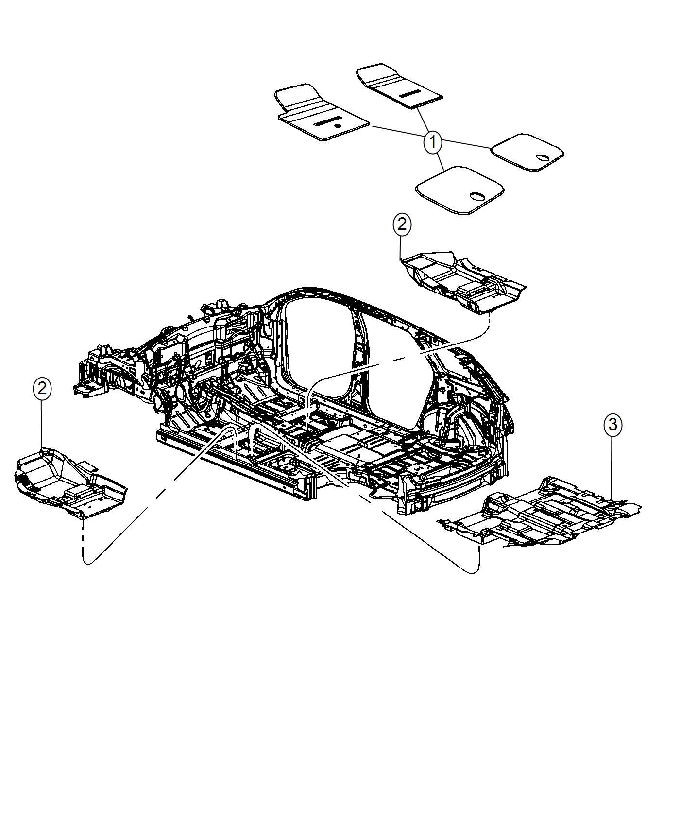 2016 Dodge Journey Mat kit. Floor. Trim: (*o0.)color: (-o0