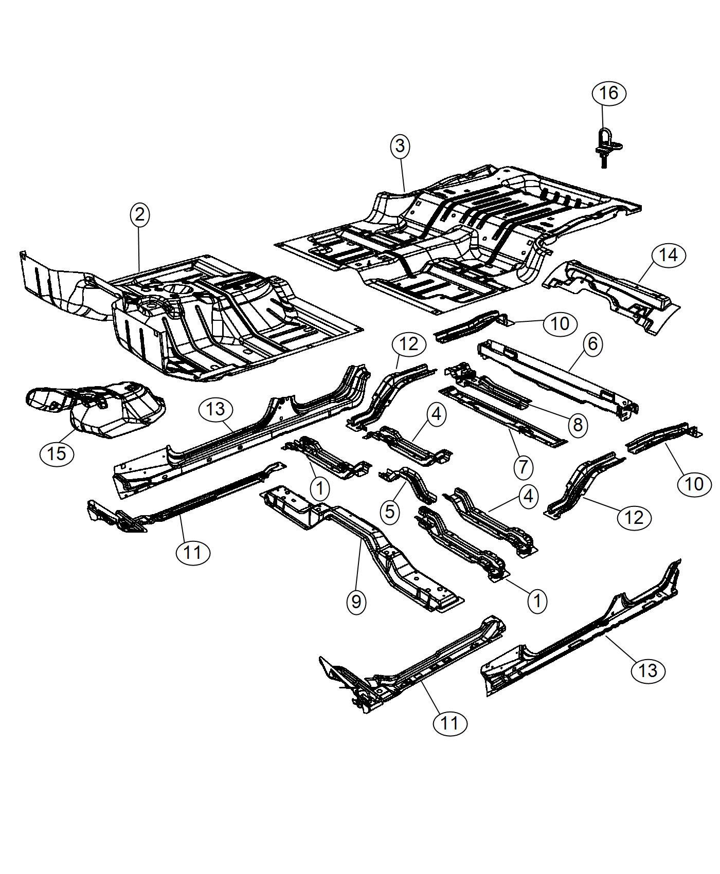 Jeep Wrangler Pan Rear Floor